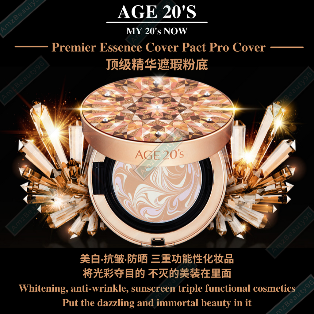 AGE 20's Premier Essence Cover Pact Pro Cover SPF50+_PA++++ (14g x 2ea) Swarovski Crystal Edition 02.png