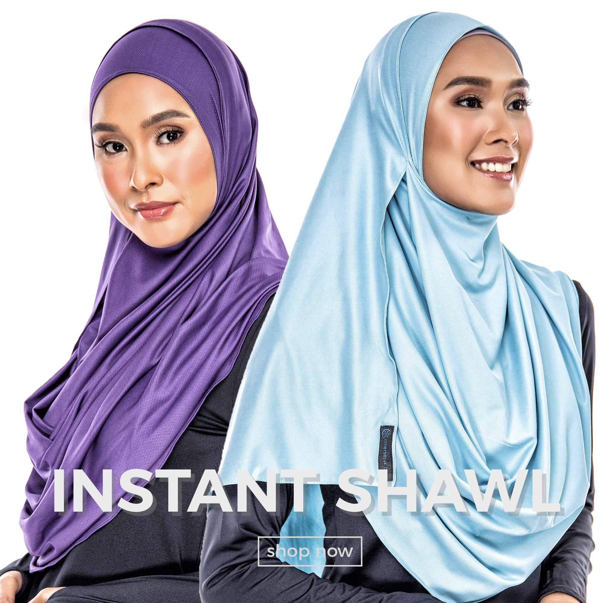 Instant shawl collection by AIRAZ InnerSejuk