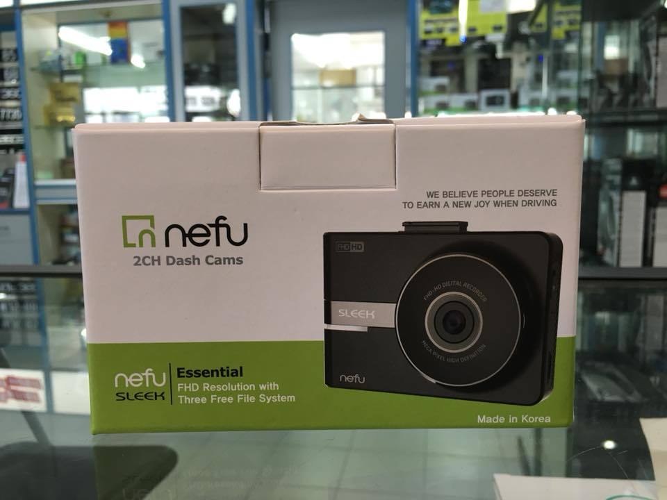 NEFU SLEEK 2CH CAR CAMERA RECORDER (DVR) with 16GB memory card