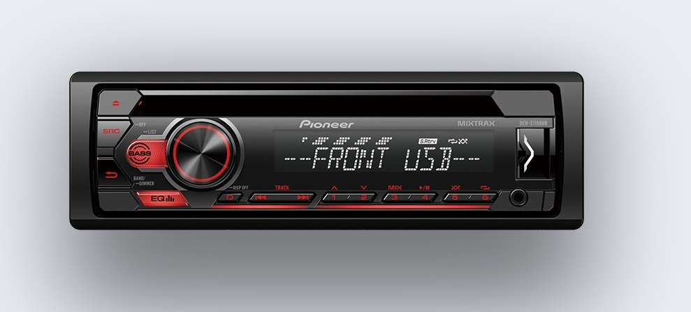 PIONEER DEH-S1150UB 1-DIN AUDIO RECEIVER WITH MIXTRAX, ANDROID CONTROL