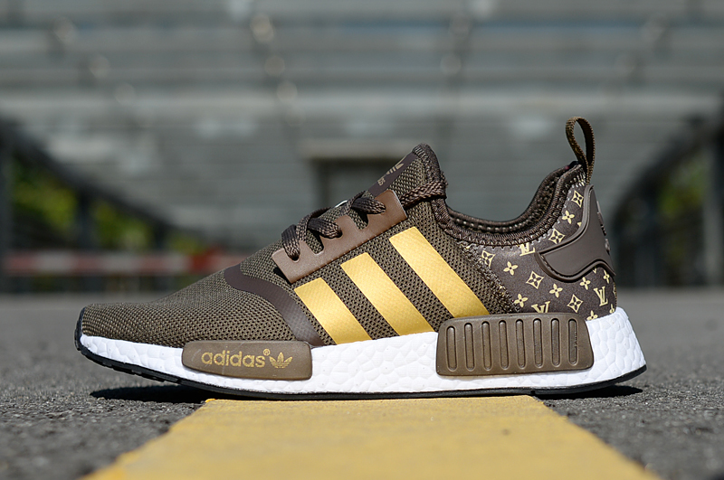 huge selection of 774d5 ce33d LV x Adidas NMD Brown