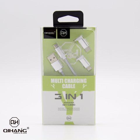 QIHANG 2.1A METAL HEAD NYLON CHARGER FOR TYPE-C, LIGHTNING, MICRO USB - 1 METER.jpg