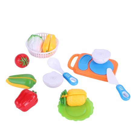 (12 PCS) Kids Kitchen Fruit Vegetable Play Set Funny Household