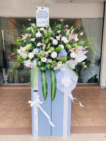 Warmest Respect Condolence Flower Stand