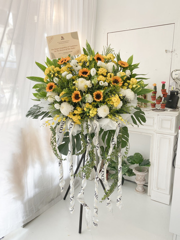 Froze Condolence Flower Stand