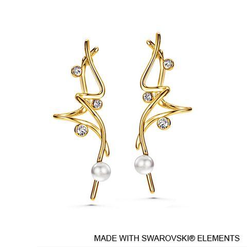 LUSH Allure 18K Gold Plated Earrings