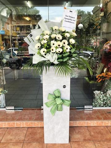Deepest Sympathy Condolence Flower Stand