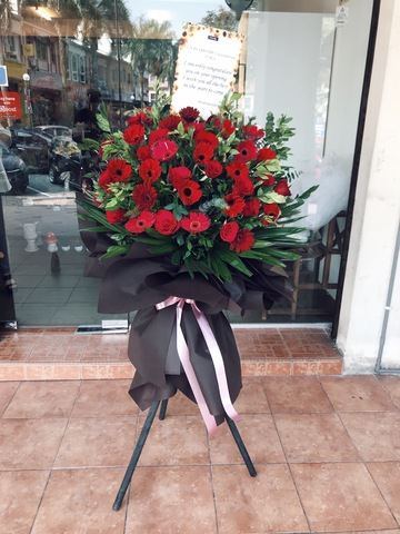 Prosperous Opening Flower Stand