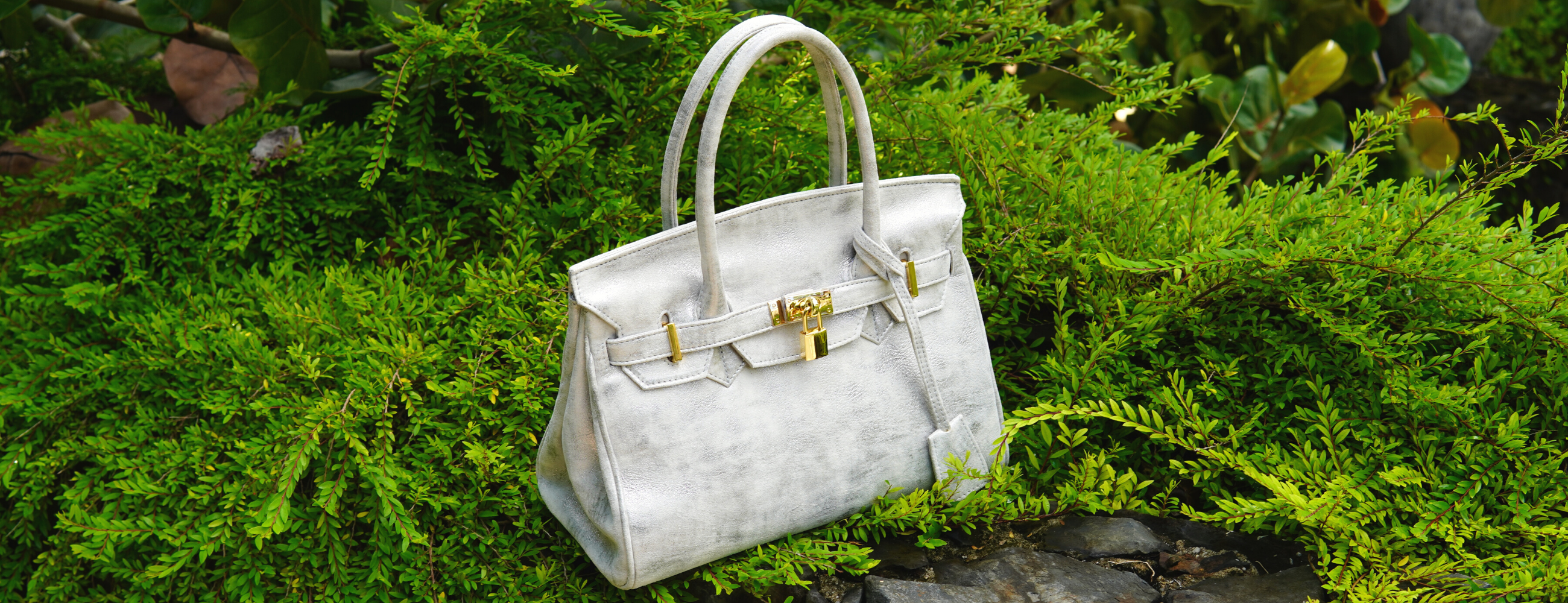 TASBIJOUX - B-Bag in Ivory Metallic Marble