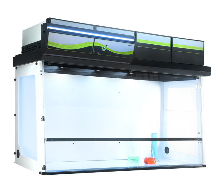 Captair Smart 714 ductless fume hood with multi-position sash