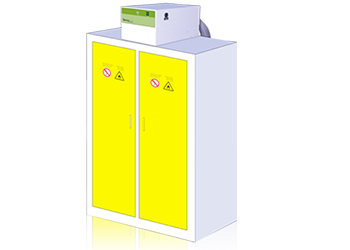Chemtrap filtration for chemical storage cabinets