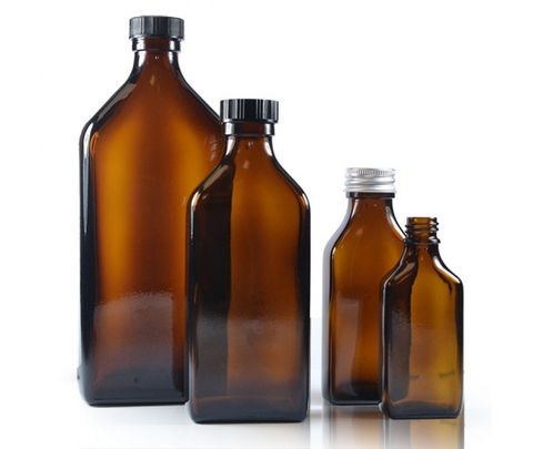 Product 62 - Medical Bottle, Flat with Screw Cap, Amber.jpg