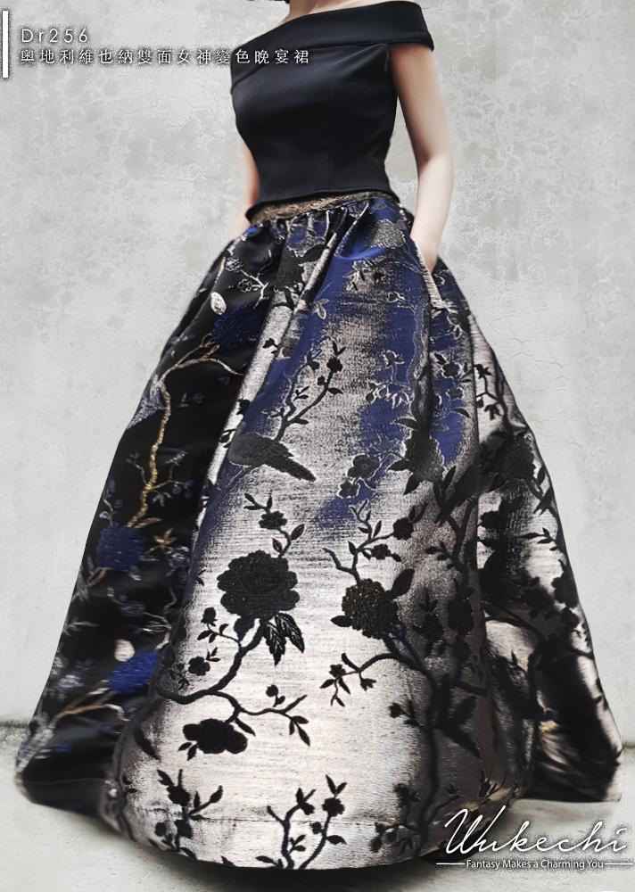 Dr256(6980)奧地利維也納雙面女神變色晚宴裙1.jpg
