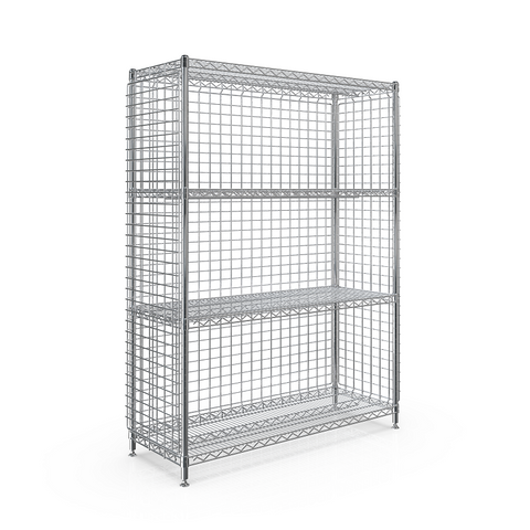 SMT 3-SIDED ENCLOSURE STATION 450x1210x1613 - 4 WIRE SHELF.png