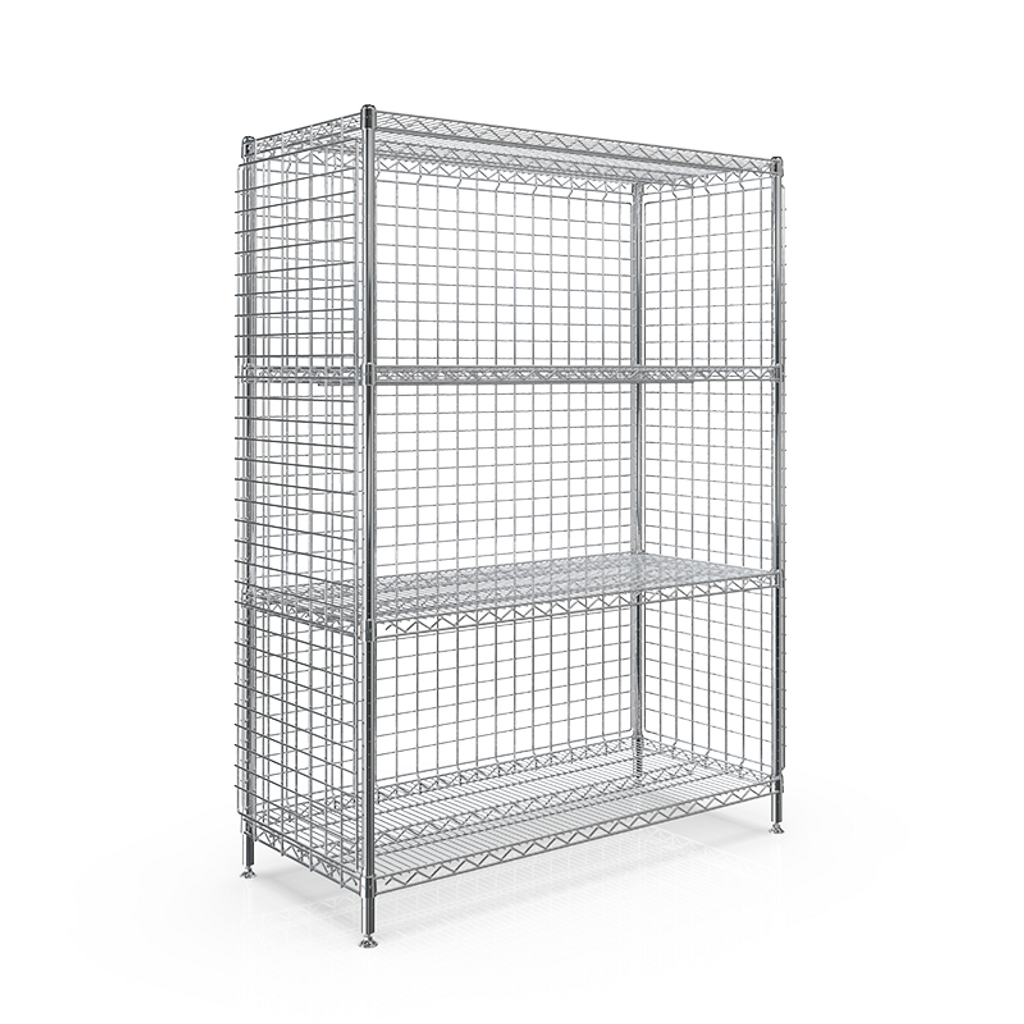 WEB - SMT 3-SIDED ENCLOSURE STATION 530x1210x1613 - 4 WIRE SHELF.png