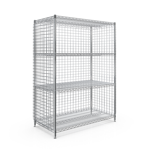 WEB - SMT 3-SIDED ENCLOSURE STATION 610x1210x1613 - 4 WIRE SHELF.png