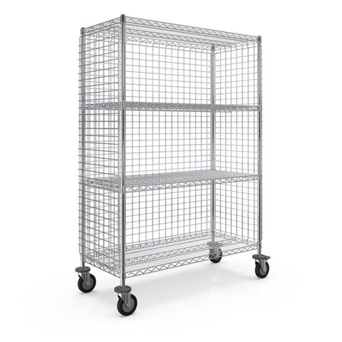 WEB - SMT 3-SIDED ENCLOSURE CART 530x1210x1613 - 4 WIRE SHELF.png