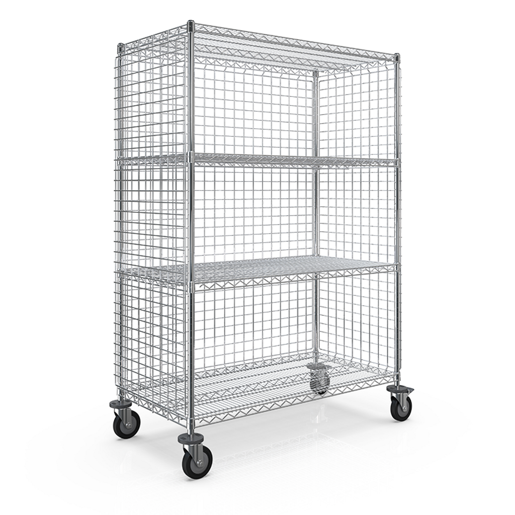 WEB - SMT 3-SIDED ENCLOSURE CART 610x1210x1613 - 4 WIRE SHELF.png