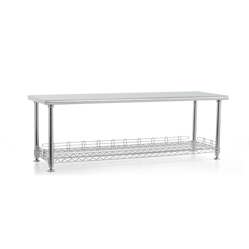 SMT SUS Cleanroom Longbench with shoe compartment.png