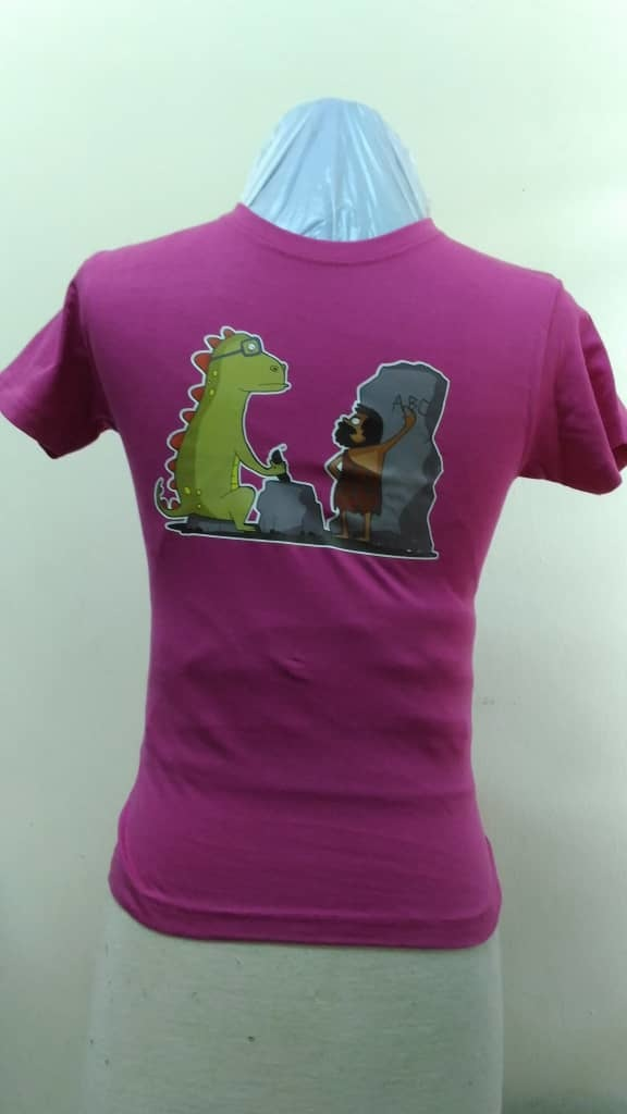 Kids 100% Cotton T Shirt - Dino Spectacle