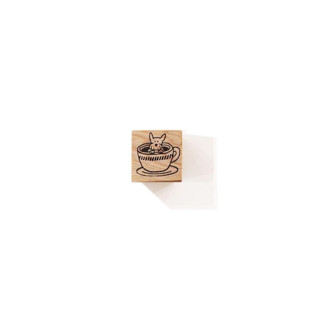 犬の喫茶店檜木印章系列 咖啡杯小犬.jpg