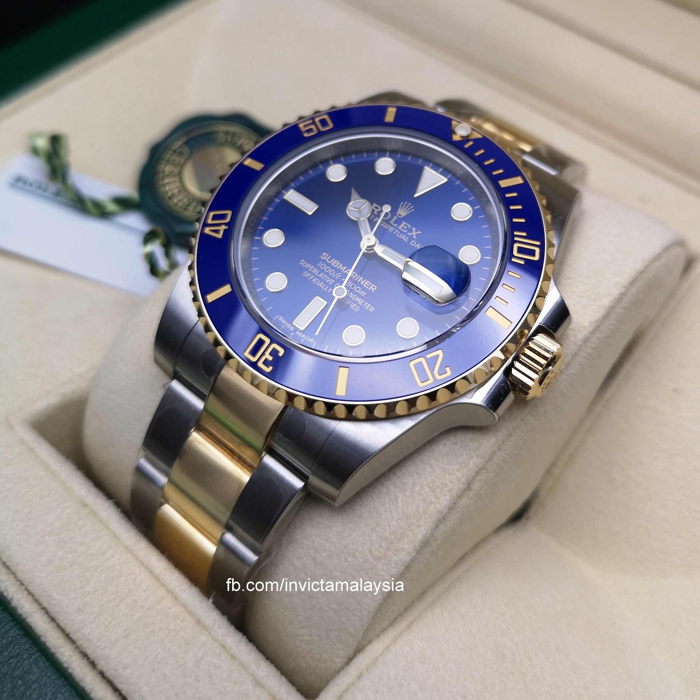 Rolex Submariner Date Two Tone Blue 116613LB
