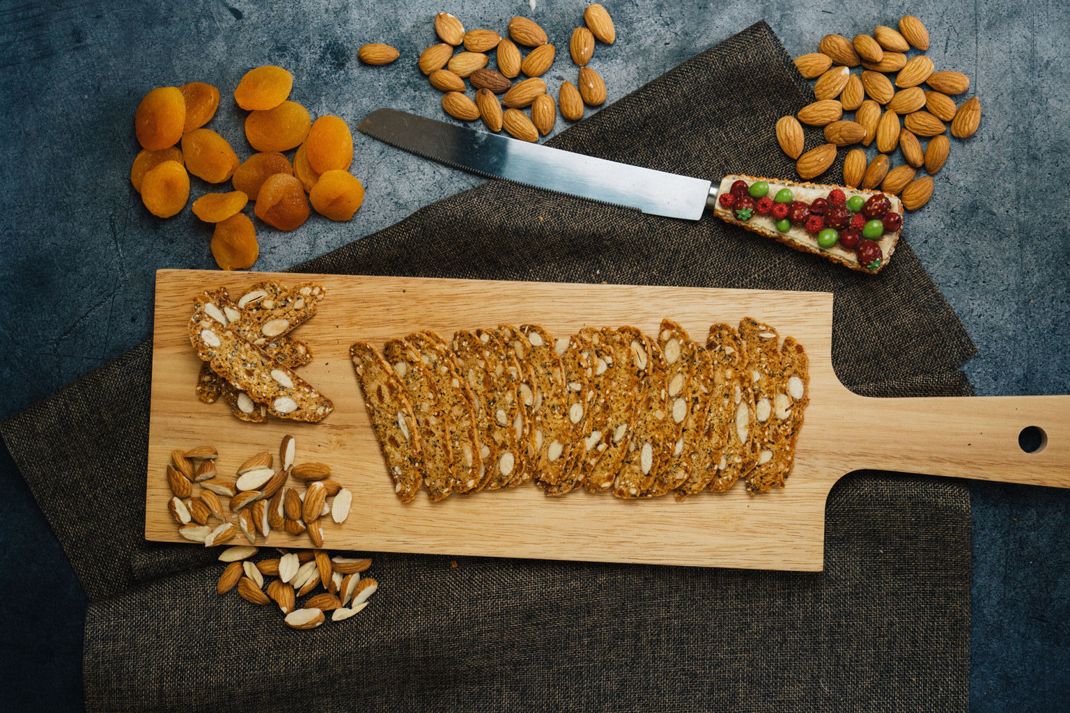 Biscotti Bakery   Featured Collection - Apricot Almond Eggless Biscotti