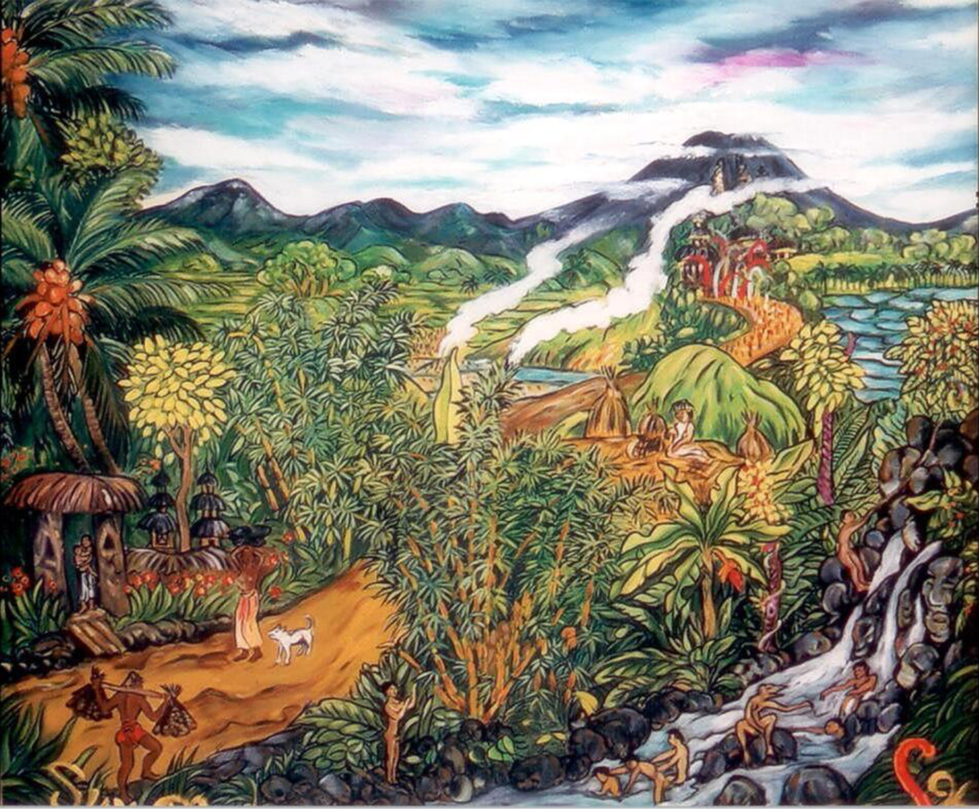 Balinese Life, 1996, Oil on Canvas, 120 x 140 cm, 1996 copy.jpg