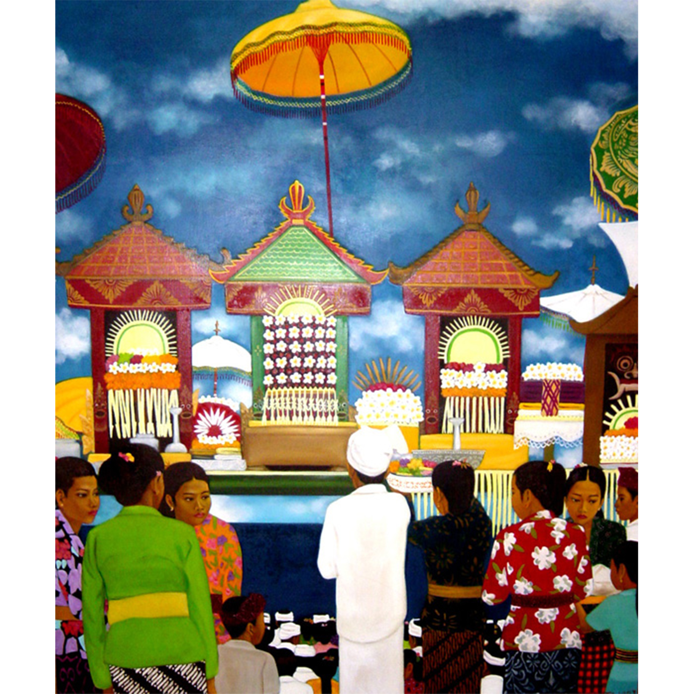 Balinese Temple Ritual, 1996, Oil on Canvas, 95 x 100 cm.jpg