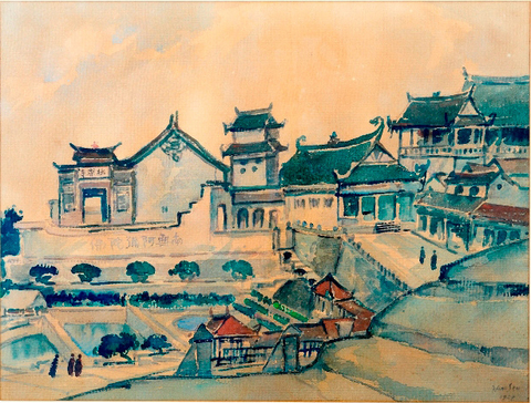 Kek Lok Si Temple, 1952, Watercolour on Paper, 65 x 50 cm copy.jpg