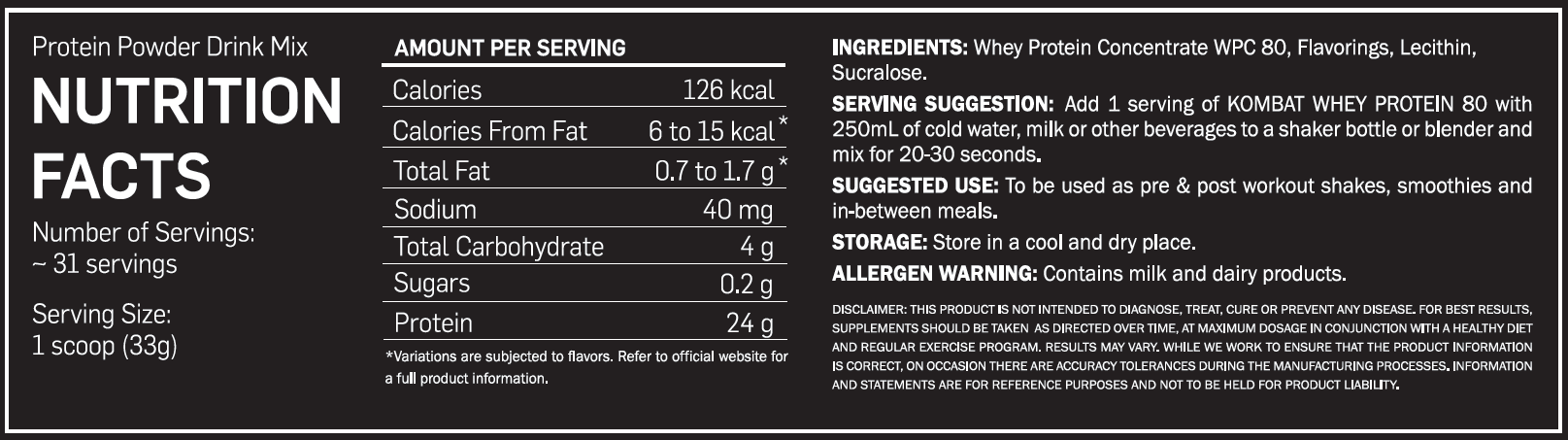 Kombat nutrition facts.png
