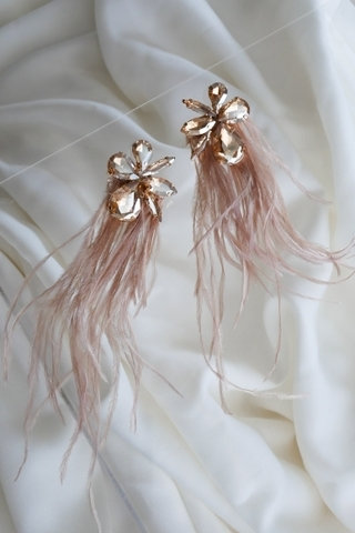 floral-feather-earrings-dustpink