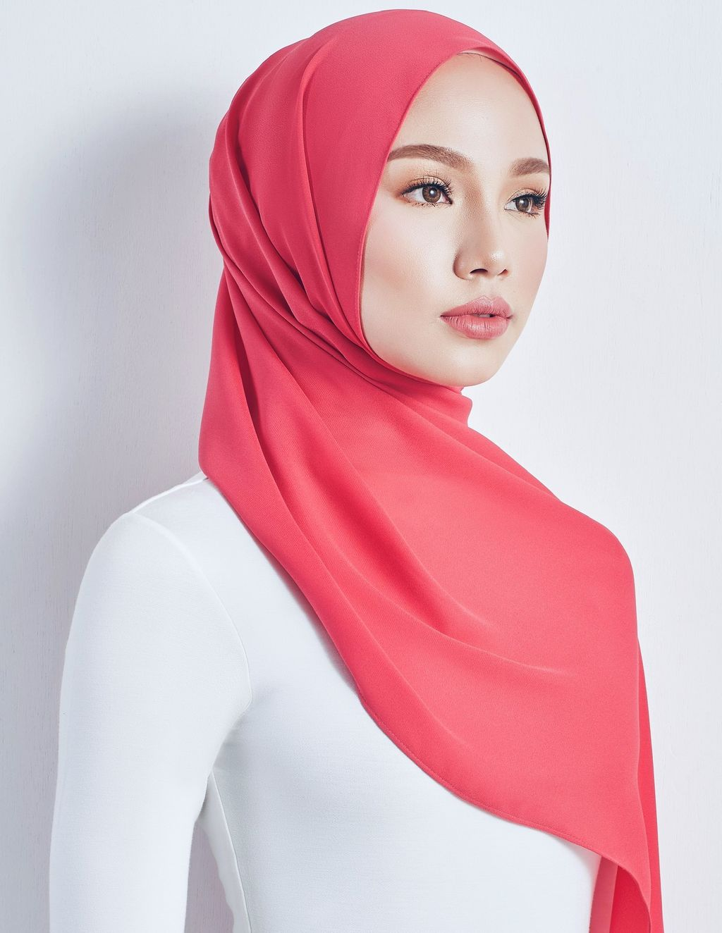 Coral Red Shawl Side.jpeg