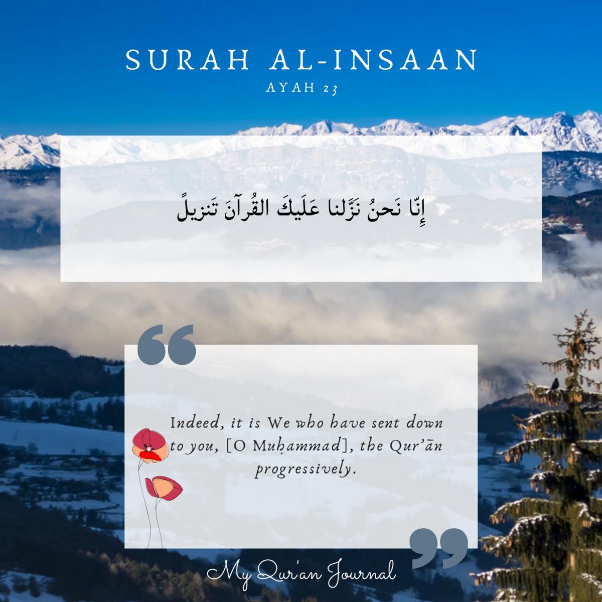 Surah Al-Insaan Ayah 23
