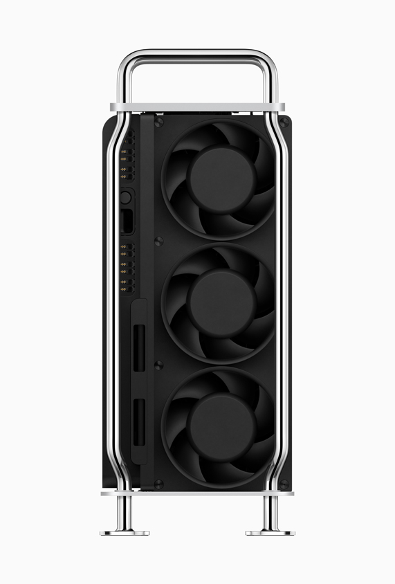 Fans on the back of Mac Pro.