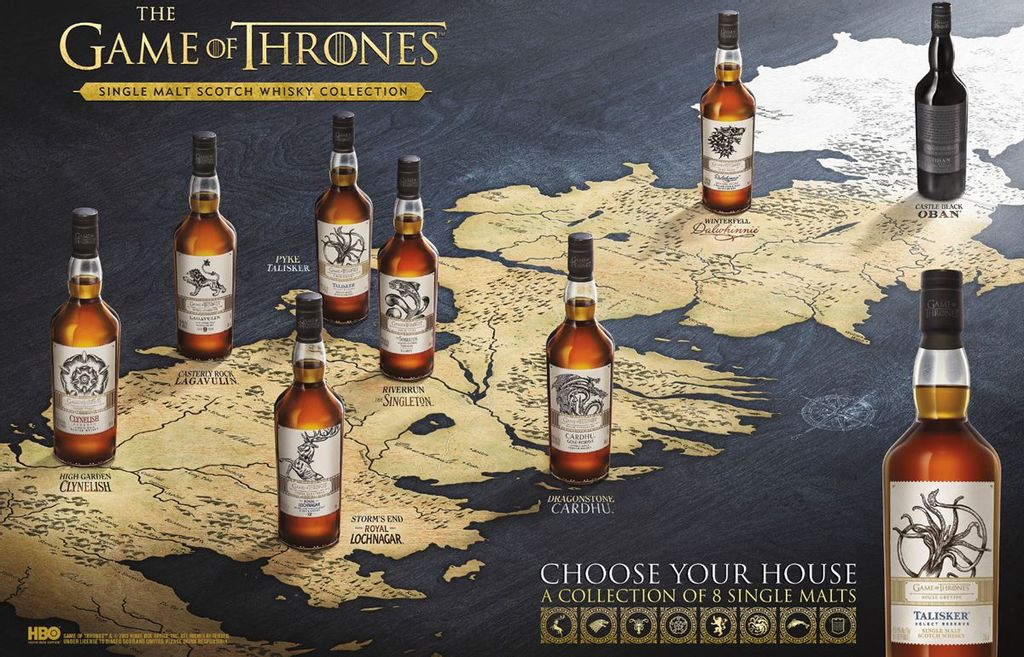 Limited edition Game of Thrones® - inspired Single Malt Whisky collection