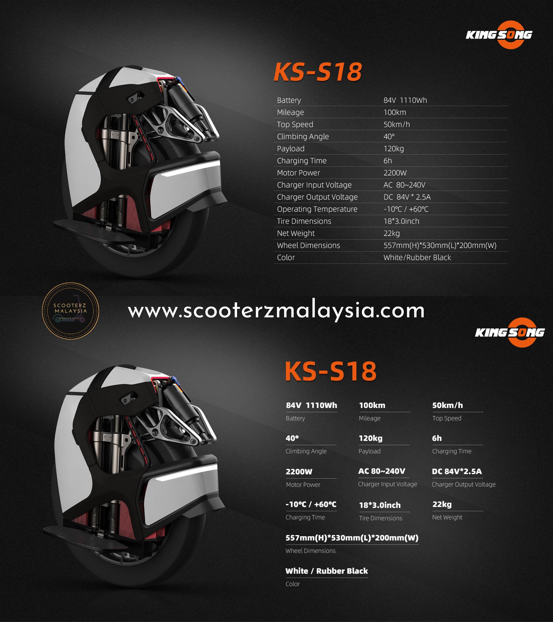 kss18 specs