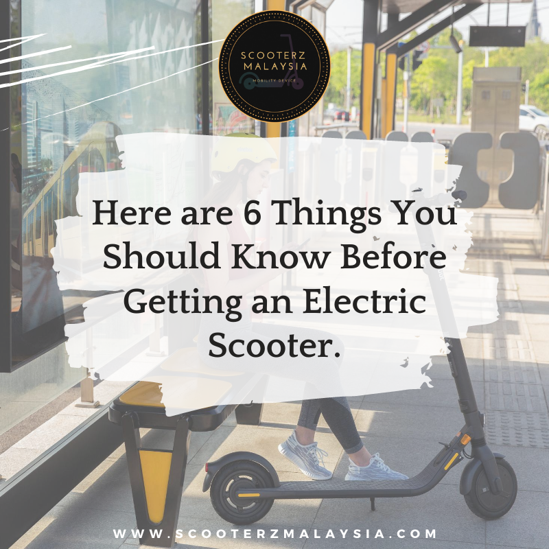 CAN I ADVICE YOU SOMETHING ABOUT E-SCOOTERS?