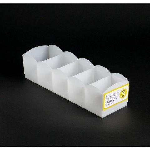 【WAVA】日本SANADA 5格收納盒(白色)1.1L.jpg