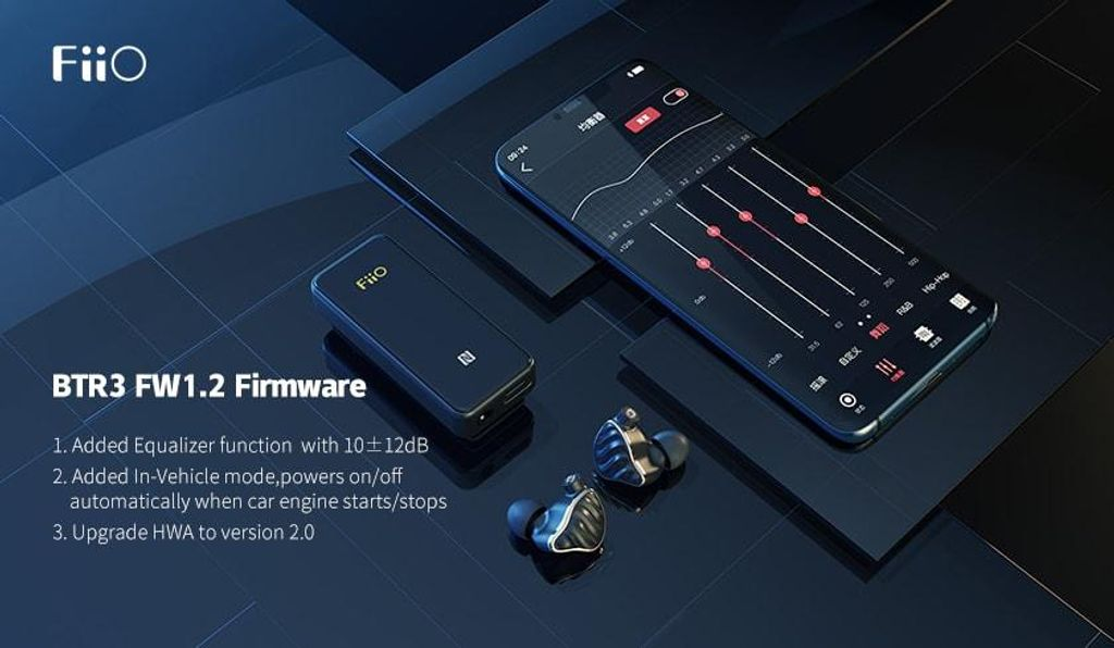 FiiO releases the new firmware 1.2 for BTR3, new added EQ function!