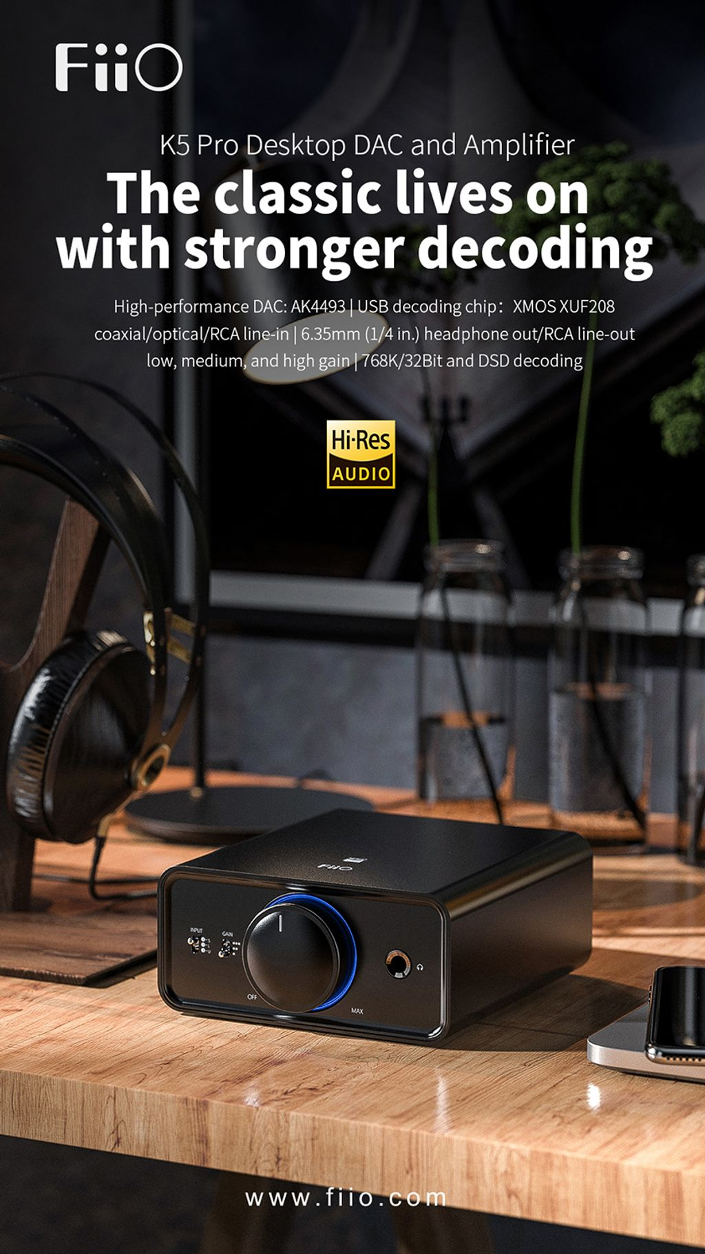 FiiO K5 Pro Desktop DAC and Amplifier is now available in Malaysia!