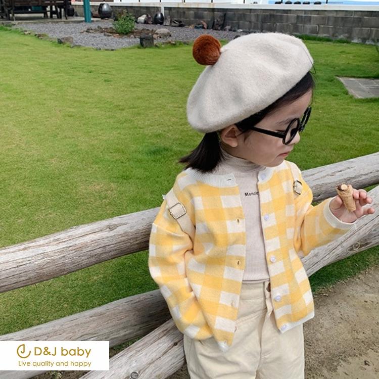 秋季格子開衫毛衣 - D&J baby