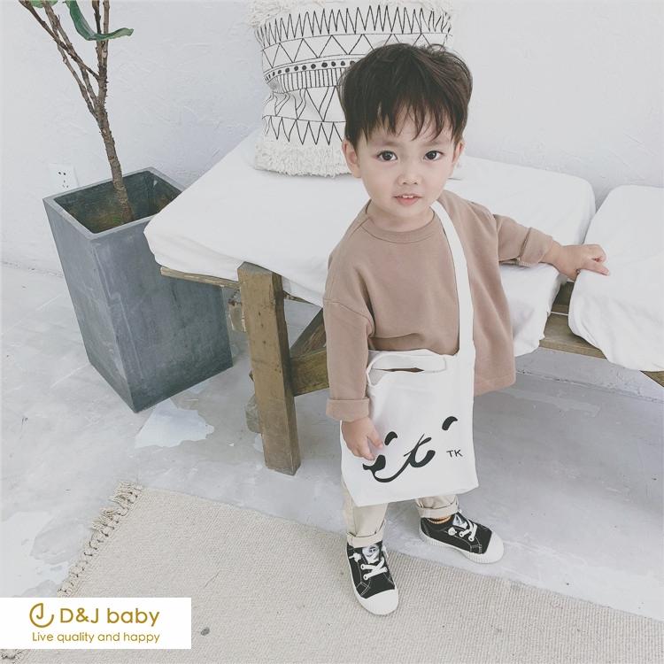 秋季純色長袖T恤 - D&J baby