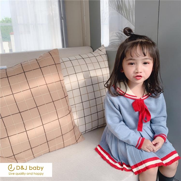 毛線上衣百褶裙套裝 - D&J baby.jpg