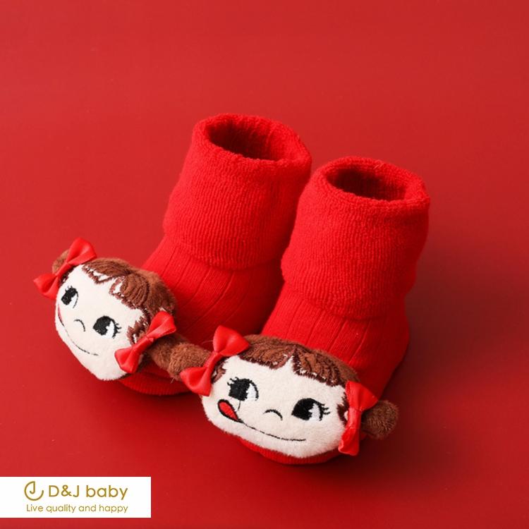 紅色聖誕中長筒襪 - D&J baby