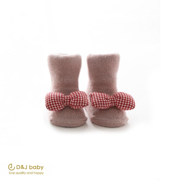 兔兔蝴蝶結中長筒襪 - D&J baby