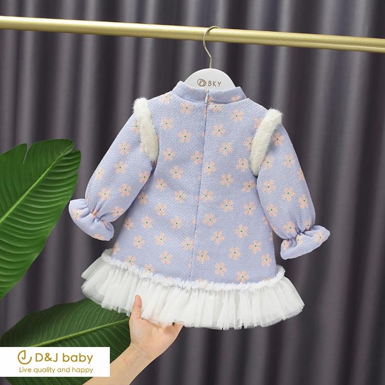 民族風加絨百摺紗裙 - D&J baby.jpg