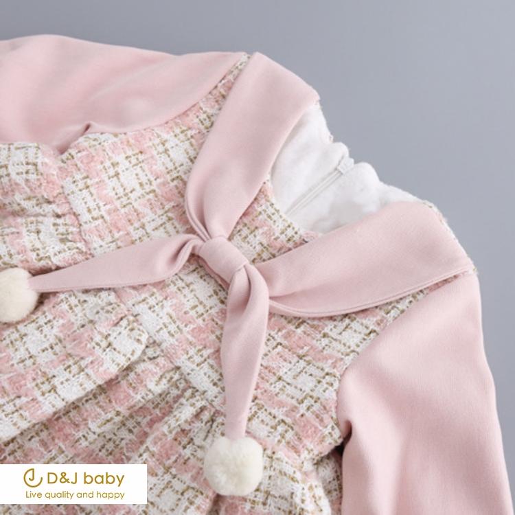 編織綁帶領連身裙 - D&J baby.jpg