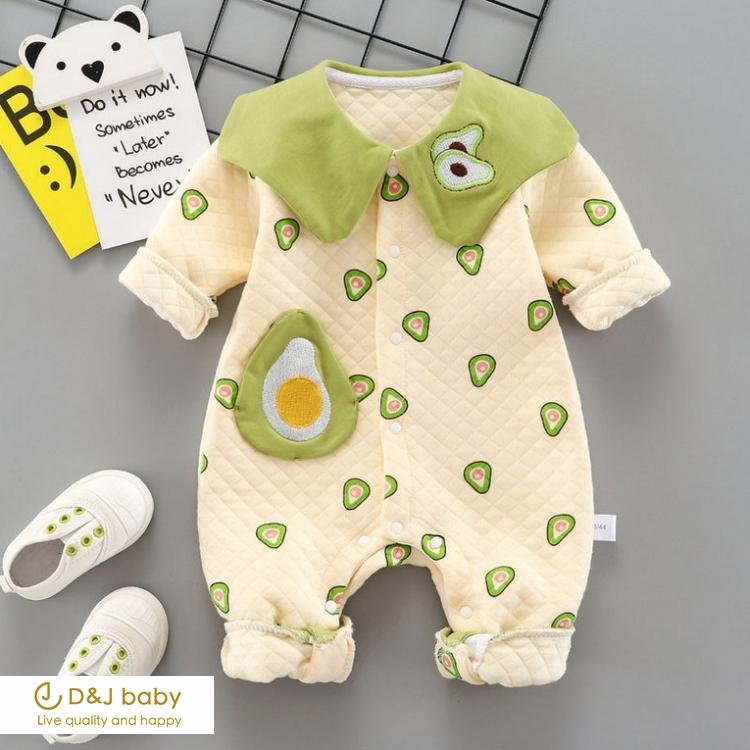 水果蛋黃長袖包屁衣 - D&J baby.jpg