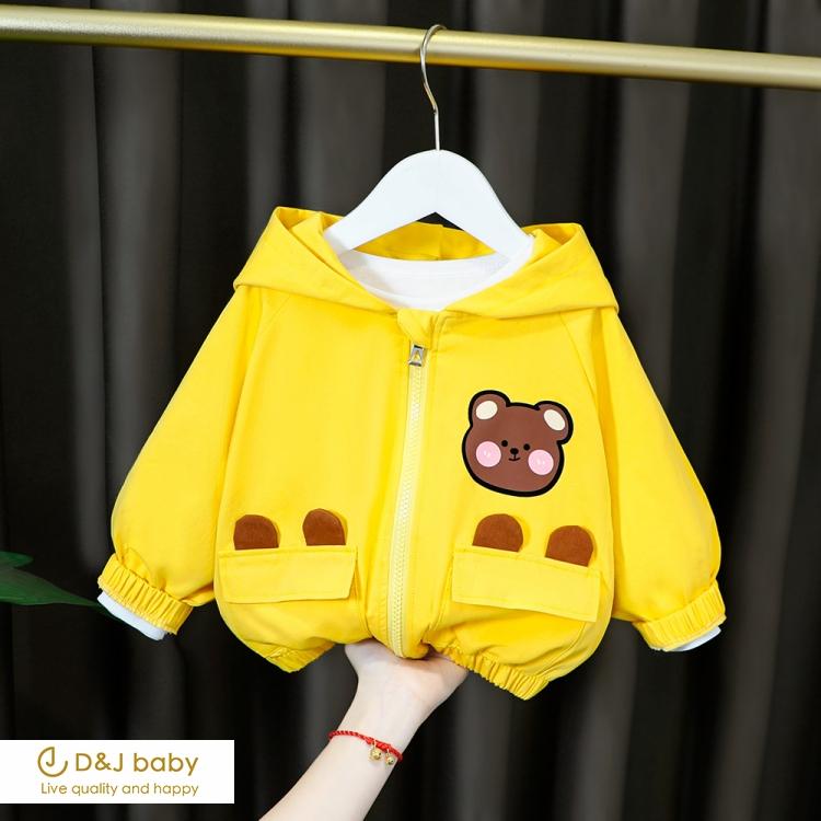 韓版卡通圖案風衣 - D&J baby